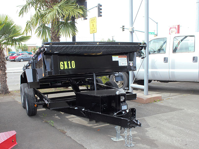 6613.B. 2021 Liberty 6 ft. x 10 dual axle ft. dump trailer from Town and Country Truck and Trailer Sales, Kent (Seattle), WA.