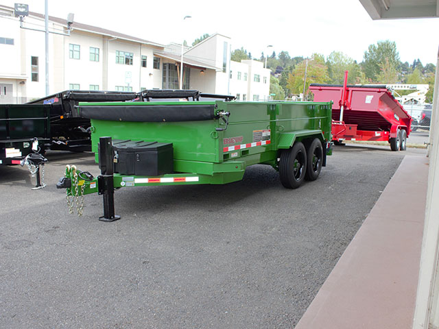 6330.A. 2021 Versadump 7 x 14 x4 ft. dump trailer from Town and Country Truck and Trailer Sales, Kent (Seattle), WA.