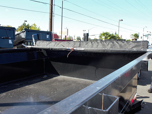 6634.C. 2021 Texas Pride 7 ft. x12 ft. dump trailer from Town and Country Truck and Trailer Sales, Kent (Seattle), WA.