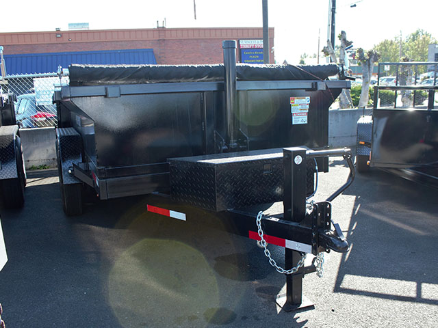 6635.B. 2021 Texas Pride 7 ft. x12 ft. dump trailer from Town and Country Truck and Trailer Sales, Kent (Seattle), WA.
