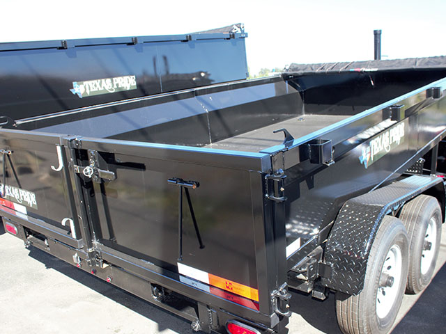 6637.D. 2021 Texas Pride 7 ft. x14 ft. dump trailer from Town and Country Truck and Trailer Sales, Kent (Seattle), WA.