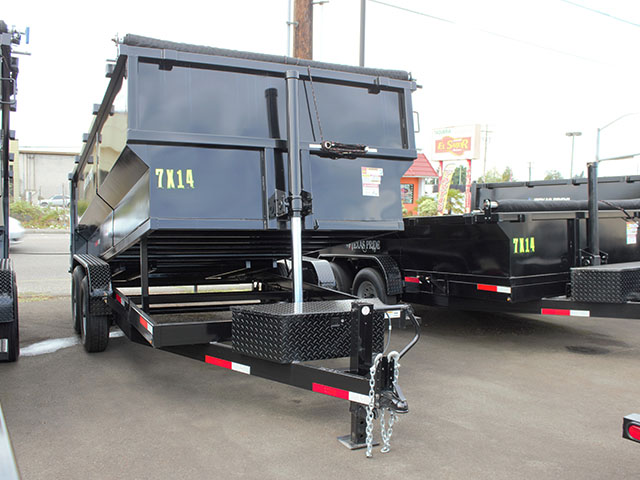 6638.b. 2021 Texas Pride 7 x 14 x4 ft. dump trailer from Town and Country Truck and Trailer Sales, Kent (Seattle), WA.