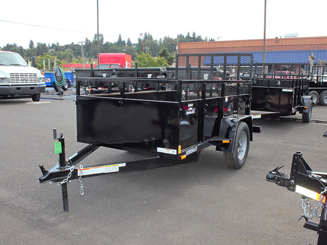 6440.a. 2021 SNAKE RIVER 5x8 Single Axle utility trailer from Town and Country Truck and Trailer Sales, Kent (Seattle), WA.