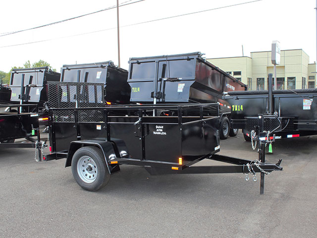 6640.b. 2021 SNAKE RIVER 5x8 Single Axle utility trailer from Town and Country Truck and Trailer Sales, Kent (Seattle), WA.
