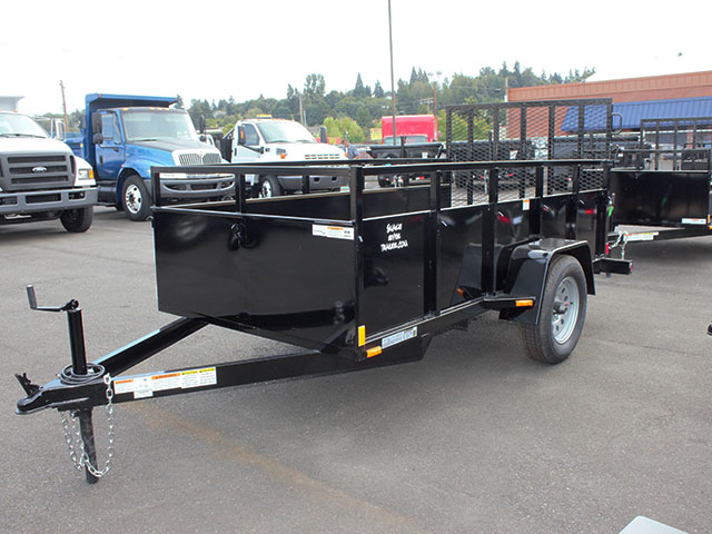 6642.a. 2021 SNAKE RIVER 5x10 Single Axle utility trailer from Town and Country Truck and Trailer Sales, Kent (Seattle), WA.