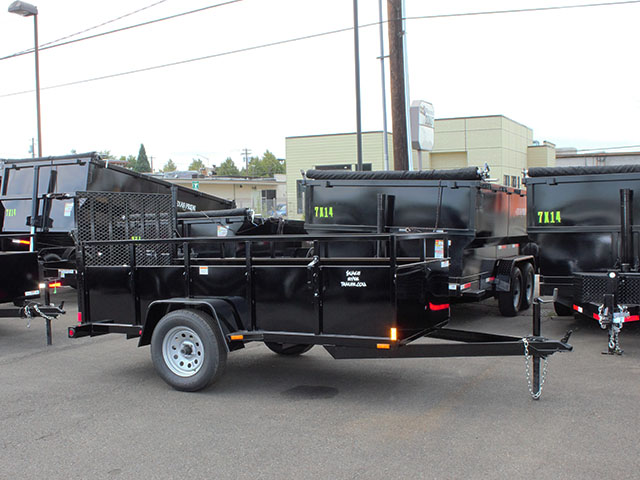 6642.b. 2021 SNAKE RIVER 5x10 Single Axle utility trailer from Town and Country Truck and Trailer Sales, Kent (Seattle), WA.