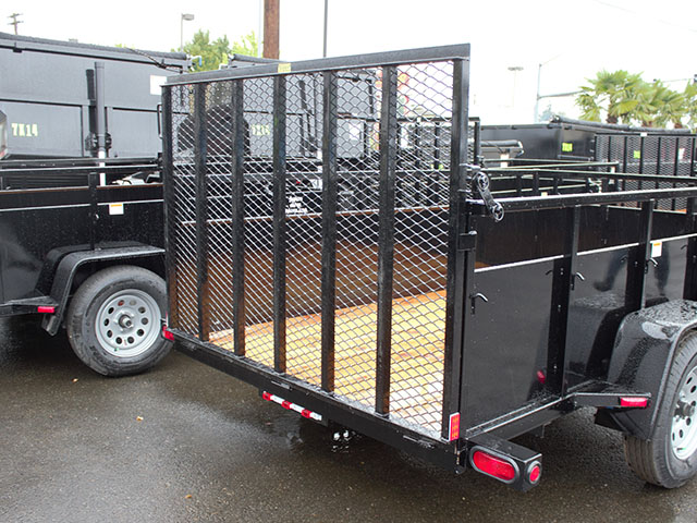 6643.b. 2021 SNAKE RIVER 6x10 Single Axle utility trailer from Town and Country Truck and Trailer Sales, Kent (Seattle), WA.