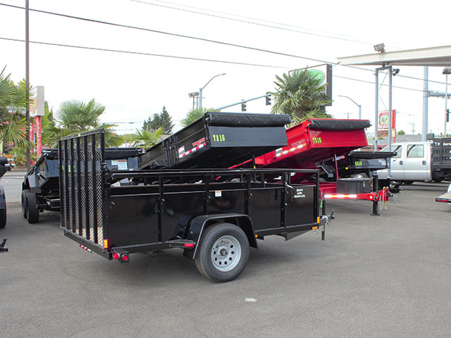 6644.b. 2021 SNAKE RIVER 6x10 Single Axle utility trailer from Town and Country Truck and Trailer Sales, Kent (Seattle), WA.