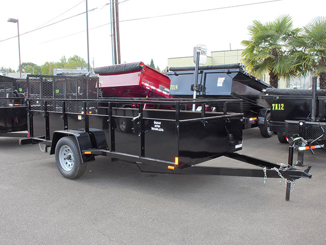 6645.a. 2021 SNAKE RIVER 6x12 Single Axle utility trailer from Town and Country Truck and Trailer Sales, Kent (Seattle), WA.
