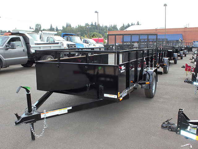 6645.b. 2021 SNAKE RIVER 6x12 Single Axle utility trailer from Town and Country Truck and Trailer Sales, Kent (Seattle), WA.