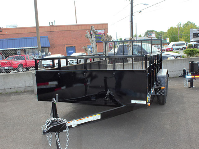 6646.a. 2021 SNAKE RIVER 7x14 Dual Axle utility trailer from Town and Country Truck and Trailer Sales, Kent (Seattle), WA.