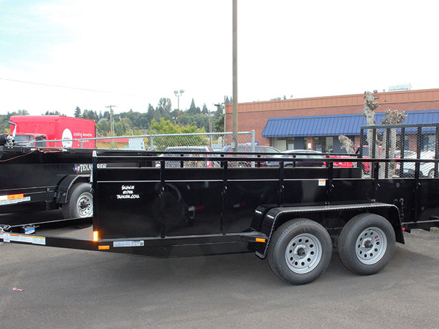 6646.b. 2021 SNAKE RIVER 7x14 Dual Axle utility trailer from Town and Country Truck and Trailer Sales, Kent (Seattle), WA.
