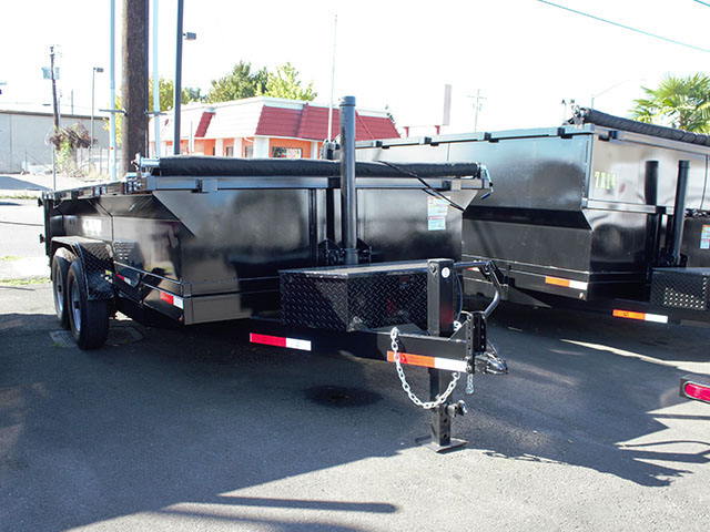 2021 Texas Pride 7 ft. x12 ft. dump trailer from Town and Country Truck and Trailer Sales, Kent (Seattle), WA.