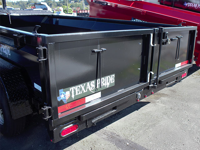 6653.D. 2021 Texas Pride 7 ft. x12 ft. dump trailer from Town and Country Truck and Trailer Sales, Kent (Seattle), WA.