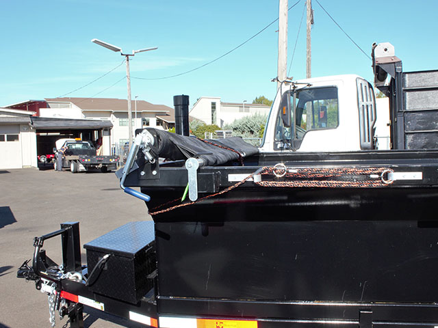 6661.C. 2021 Texas Pride 7 ft. x12 ft. dump trailer from Town and Country Truck and Trailer Sales, Kent (Seattle), WA.