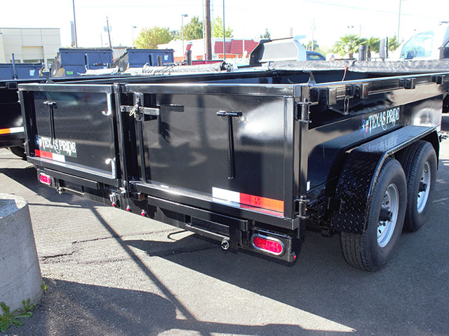6662.D. 2021 Texas Pride 7 ft. x 14 ft. dump trailer from Town and Country Truck and Trailer Sales, Kent (Seattle), WA.
