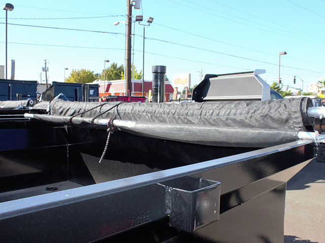 6664.C. 2021 Texas Pride 7 ft. x12 ft. dump trailer from Town and Country Truck and Trailer Sales, Kent (Seattle), WA.