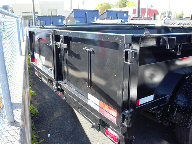 6664.D. 2021 Texas Pride 7 ft. x12 ft. dump trailer from Town and Country Truck and Trailer Sales, Kent (Seattle), WA.