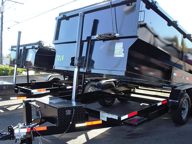 2021 Texas Pride 7 ft. x 14 ft. x 48 inch tall sided dump trailer from Town and Country Truck and Trailer Sales, Kent (Seattle), WA.