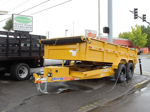 6667. 2021 Liberty 7x14 dump trailer from Town and Country Truck and Trailer Sales, Kent (Seattle), WA.