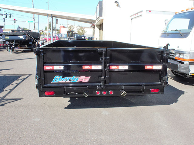 6668.C. 2021 Liberty 7 ft. x 14 ft. dump trailer from Town and Country Truck and Trailer Sales, Kent (Seattle), WA.