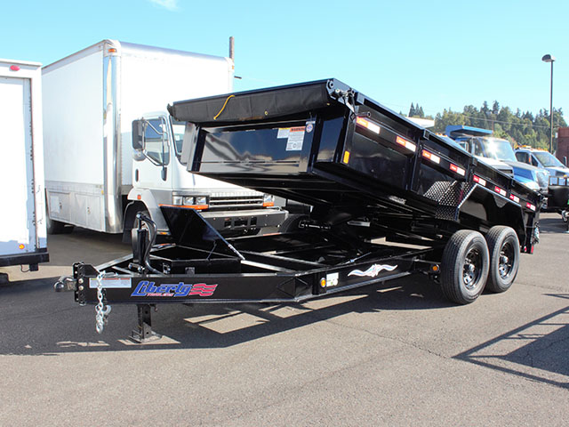 2021 Liberty 7 ft. x 14 ft. dump trailer from Town and Country Truck and Trailer Sales, Kent (Seattle), WA.