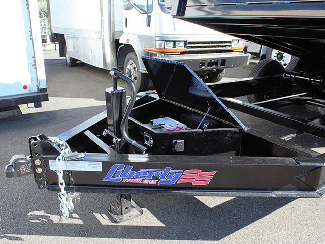 6669.B. 2021 Liberty 7 ft. x 14 ft. dump trailer from Town and Country Truck and Trailer Sales, Kent (Seattle), WA.
