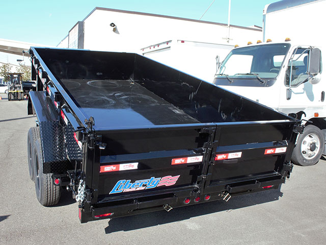 6669.E. 2021 Liberty 7 ft. x 14 ft. dump trailer from Town and Country Truck and Trailer Sales, Kent (Seattle), WA.