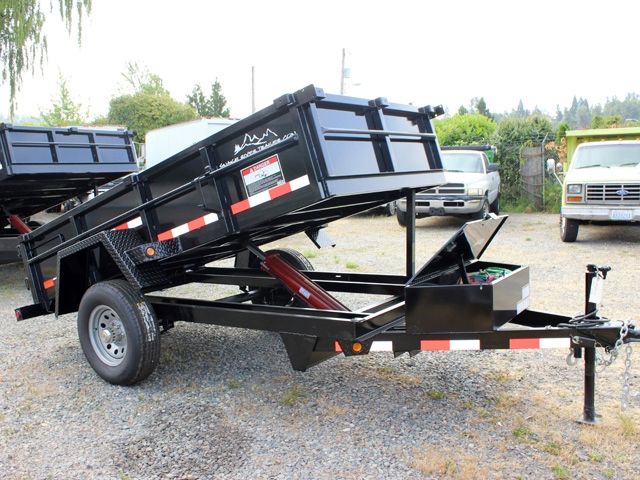 DMP5X10.B. 2016 SNAKE RIVER 5 ft. x 10 ft. Single Axle Dump Trailer from Town and Country Commercial Trailer and Truck Sales, Kent (Seattle), WA