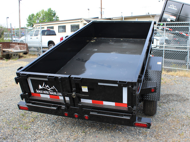 DMP5X10.C. 2016 SNAKE RIVER 5 ft. x 10 ft. Single Axle Dump Trailer from Town and Country Commercial Trailer and Truck Sales, Kent (Seattle), WA