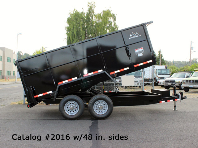 2016.A. Snake River 7 ft. Wide Dump Trailers from Town and Country Commercial Trailer and Truck Sales, Kent (Seattle), WA