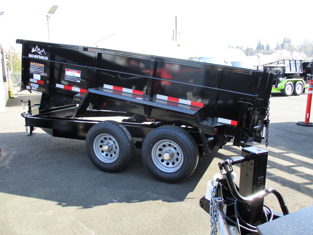 6445.B. 2020 SNAKE RIVER 7 ft. x 12 ft. x 26 in. Dump Trailer from Town and Country Truck and Trailer Sales, Kent (Seattle), WA.