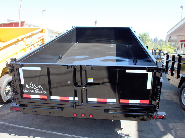 6488.E. 2021 Snake River 7 ft. x 14 ft. dump trailer from Town and Country Truck and Trailer Sales, Kent (Seattle), WA.