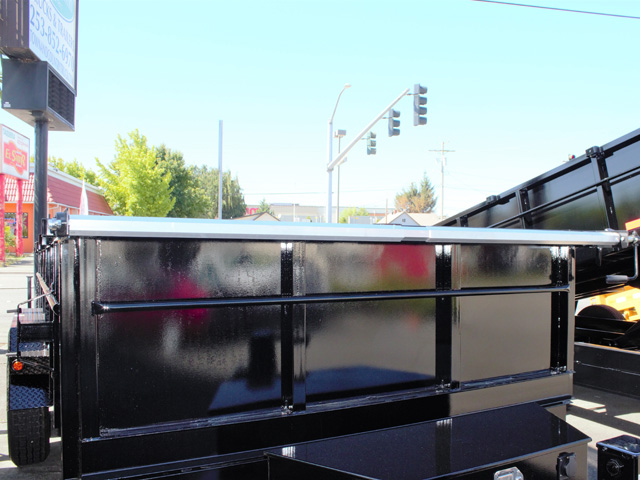 6488.I. 2021 Snake River 7 ft. x 14 ft. dump trailer from Town and Country Truck and Trailer Sales, Kent (Seattle), WA.
