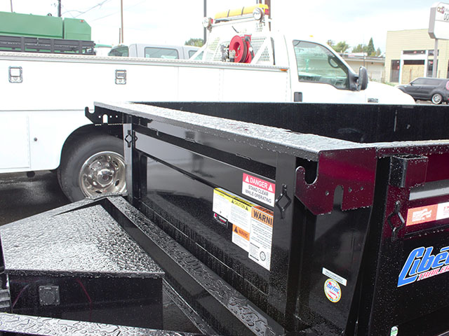 6496.E. 2021 LIBERTY 7 ft. x 16 ft. dump trailer from Town and Country Truck and Trailer Sales, Kent (Seattle), WA.