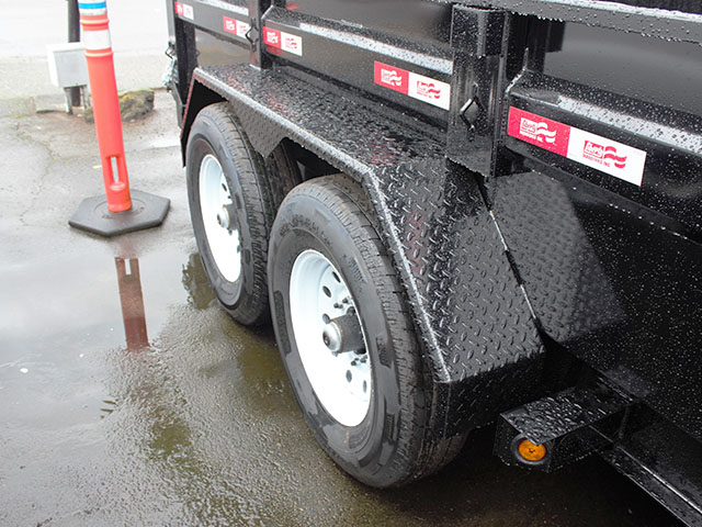 6496.H. 2021 LIBERTY 7 ft. x 16 ft. dump trailer from Town and Country Truck and Trailer Sales, Kent (Seattle), WA.