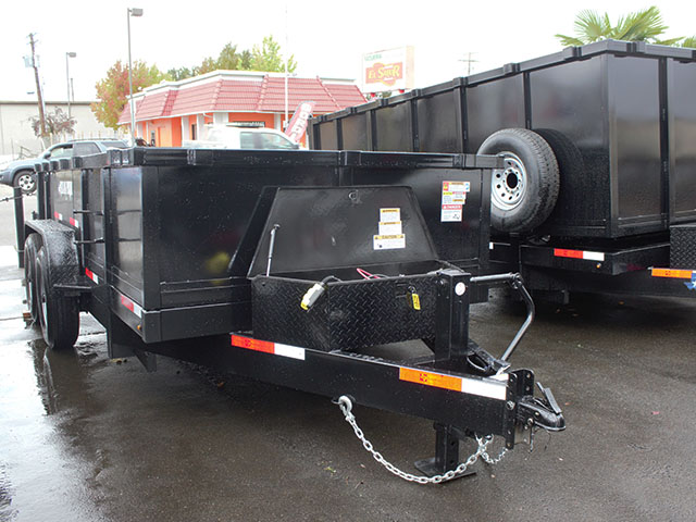 6511.B. 2021 Texas Pride 7 ft. x 14 ft. dump trailer from Town and Country Truck and Trailer Sales, Kent (Seattle), WA.