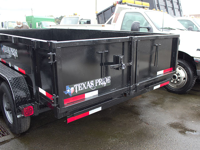 6511.F. 2021 Texas Pride 7 ft. x 14 ft. dump trailer from Town and Country Truck and Trailer Sales, Kent (Seattle), WA.
