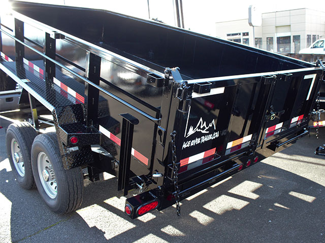 6530.H. 2021 Snake River, 7 ft. x 14 ft. x 26 in. dump trailer from Town and Country Truck and Trailer Sales, Kent (Seattle), WA.
