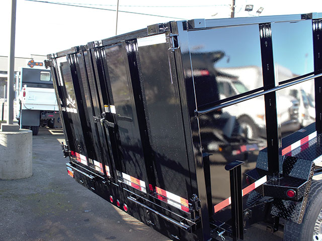 6531.I. 2021 Snake River, 7 ft. x 14 ft. x 48 in. tall sided dump trailer from Town and Country Truck and Trailer Sales, Kent (Seattle), WA.