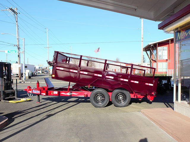 6533.B. 2021 Liberty 83 in. x 14 ft. dump trailer from Town and Country Truck and Trailer Sales, Kent (Seattle), WA.