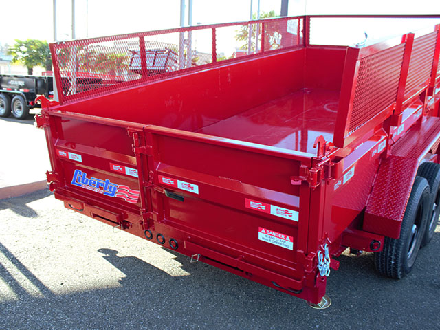 6533.J. 2021 Liberty 83 in. x 14 ft. dump trailer from Town and Country Truck and Trailer Sales, Kent (Seattle), WA.
