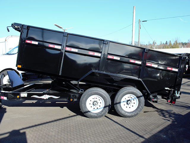 6535.C. 2021 Liberty 83 in. x 14 ft. x 42 in. tall sided dump trailer from Town and Country Truck and Trailer Sales, Kent (Seattle), WA.