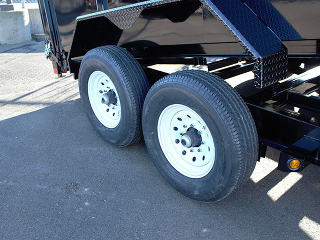 6535.N. 2021 Liberty 83 in. x 14 ft. x 42 in. tall sided dump trailer from Town and Country Truck and Trailer Sales, Kent (Seattle), WA.