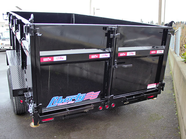 6537G. 2021 Liberty 83 in. x 14 ft. x 42 in. tall sided dump trailer from Town and Country Truck and Trailer Sales, Kent (Seattle), WA.