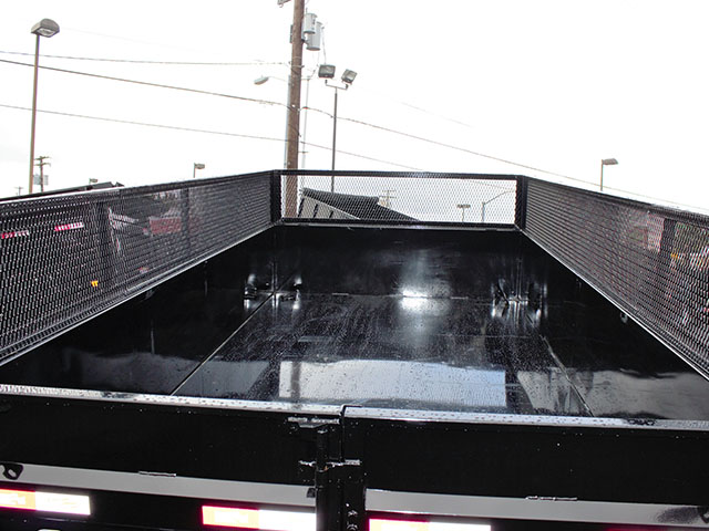 6540.I. 2021 Liberty 83 in. x 14 ft. dump trailer from Town and Country Truck and Trailer Sales, Kent (Seattle), WA.