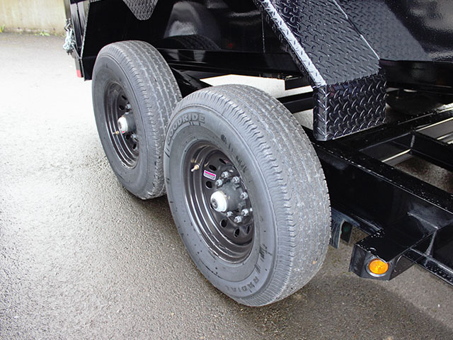 6540.J. 2021 Liberty 83 in. x 14 ft. dump trailer from Town and Country Truck and Trailer Sales, Kent (Seattle), WA.