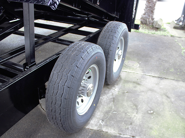 6487.J. 2021 Snake River 7 ft. x 16 ft.  x 26 inch dump trailer from Town and Country Truck and Trailer Sales, Kent (Seattle), WA.
