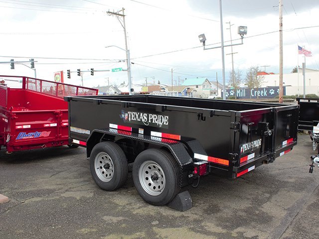 6512.B. 2021 Texas Pride 6 ft. x 10 ft. dump trailer from Town and Country Truck and Trailer Sales, Kent (Seattle), WA.
