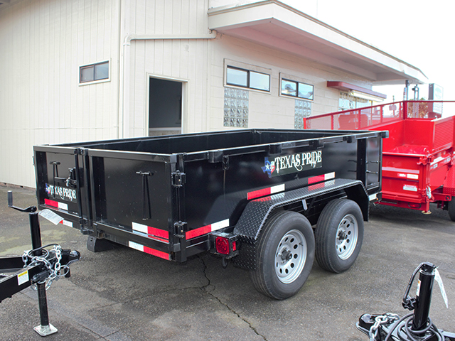 6512.C. 2021 Texas Pride 6 ft. x 10 ft. dump trailer from Town and Country Truck and Trailer Sales, Kent (Seattle), WA.